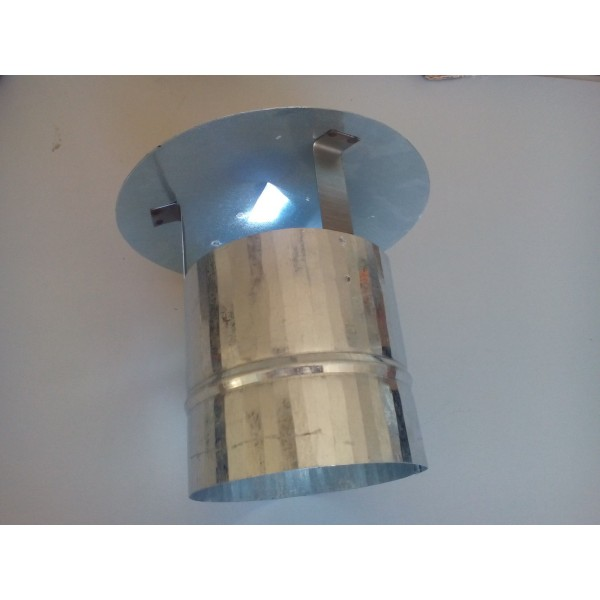 Chimney Cowl Galvanized Steel  Hat Wood Burning Stoves Fireplace 130 mm